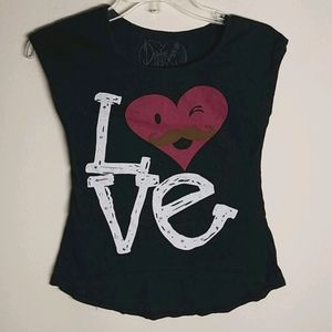 DIRTEE HOLLYWOOD Girl's top,size S